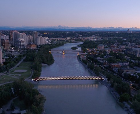Calgary Drone City View
